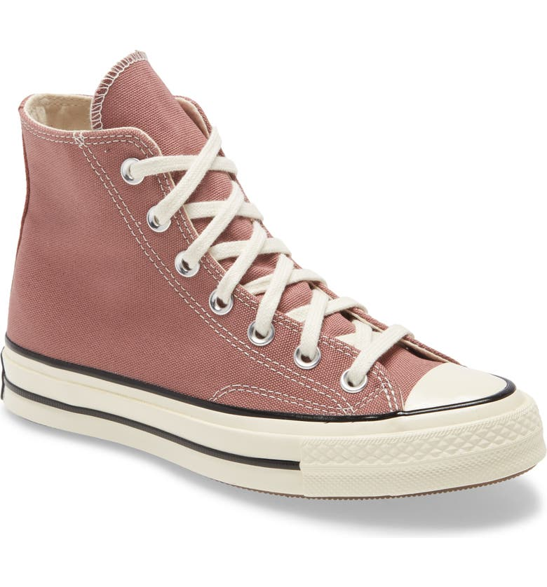 CONVERSE Chuck Taylor<sup>®</sup> All Star<sup>®</sup> Chuck 70 High Top Sneaker, Main, color, SADDLE/ EGRET/ BLACK