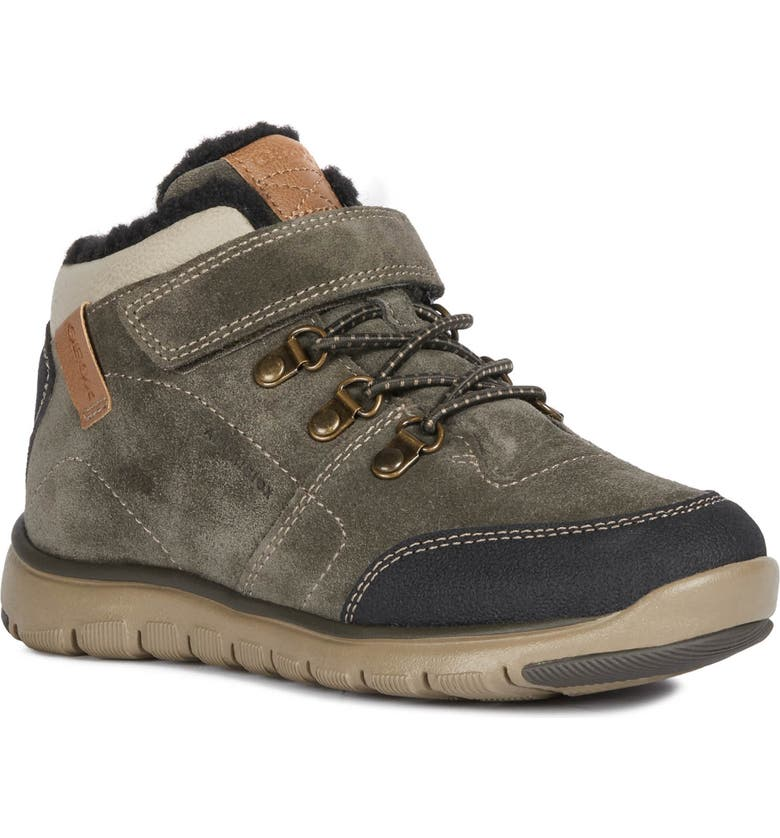 GEOX Xunday Amphibiox Waterproof Boot, Main, color, MILITARY/ BEIGE