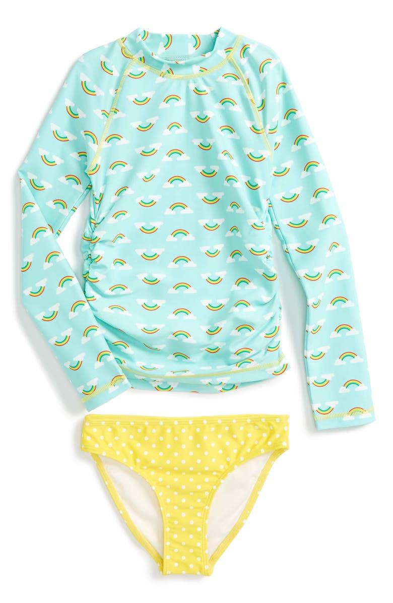 d10b8df5f7 Tucker + Tate Two-Piece Rashguard Swimsuit (Toddler Girls, Little ...