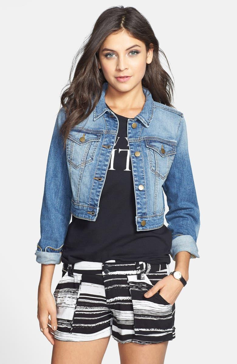 BP. Crop Denim Jacket, Main, color, 400