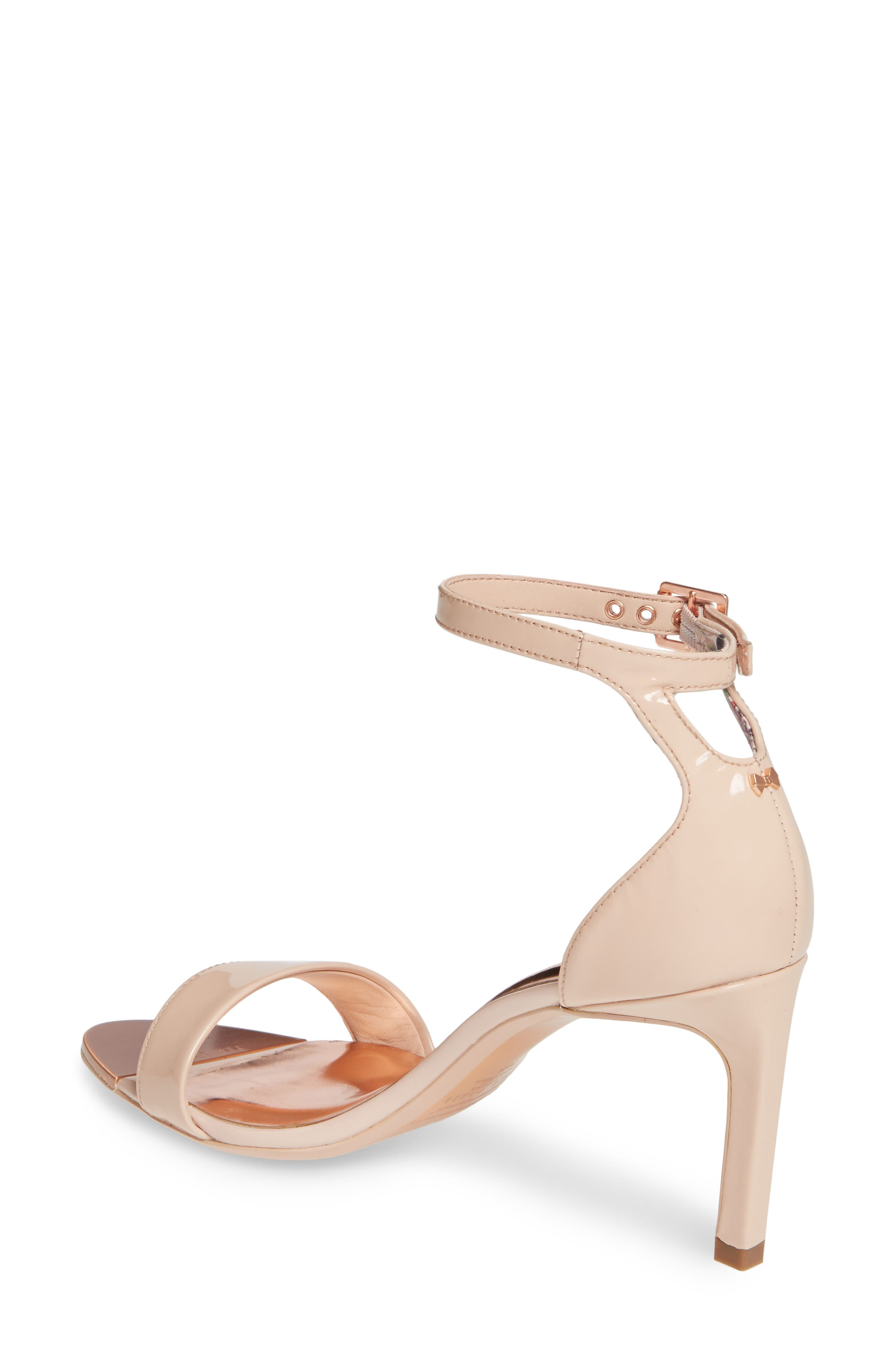 ,                             Ankle Strap Sandal,                             Alternate thumbnail 2, color,                             NUDE PATENT LEATHER