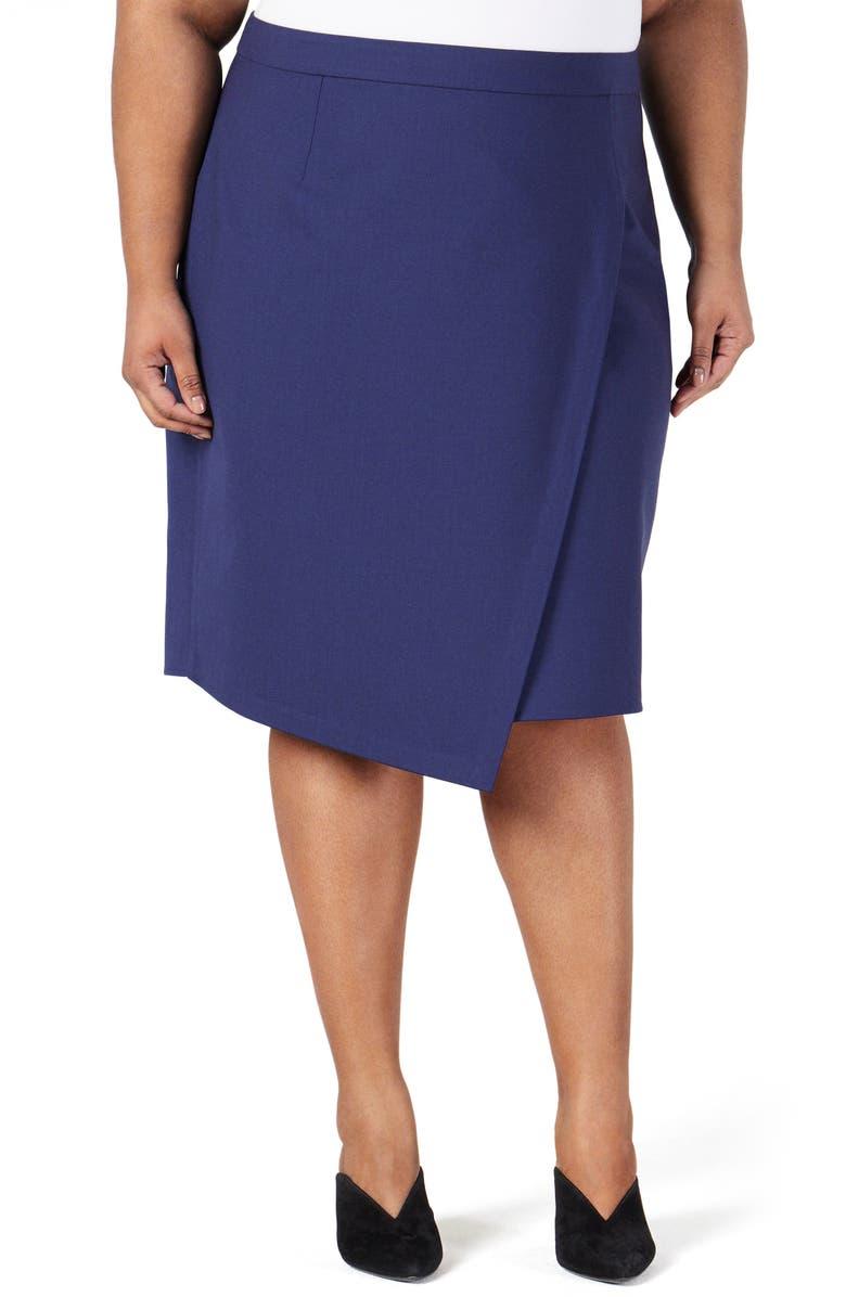 PARI PASSU Asymmetrical Stretch Wool Skirt, Main, color, 410
