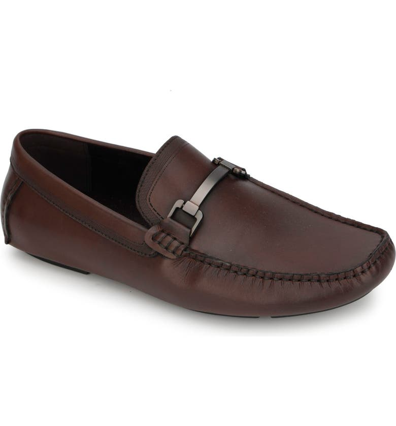 REACTION KENNETH COLE Sound Driving Loafer, Main, color, BROWN LEATHER