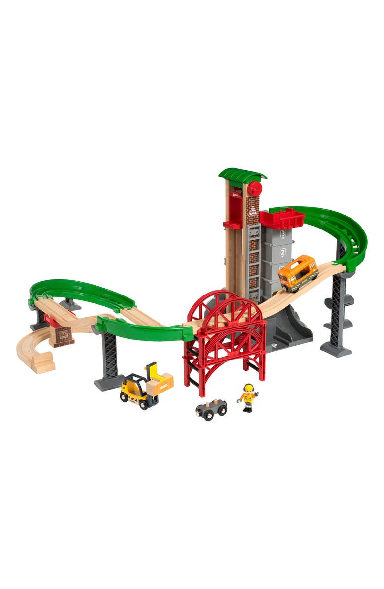 BRIO World Lift & Load Warehouse Set, Main, color, MULTI