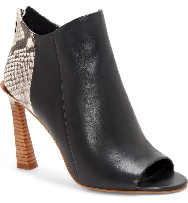 VINCE CAMUTO Artiziana Open Toe Bootie, Main, color, 003