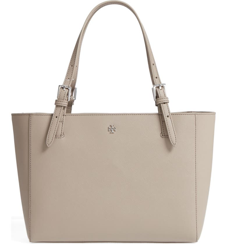 TORY BURCH 'Small York' Saffiano Leather Buckle Tote, Main, color, 020