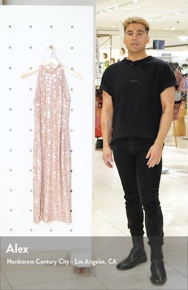 Sequin Cheetah Print Midi Dress, sales video thumbnail
