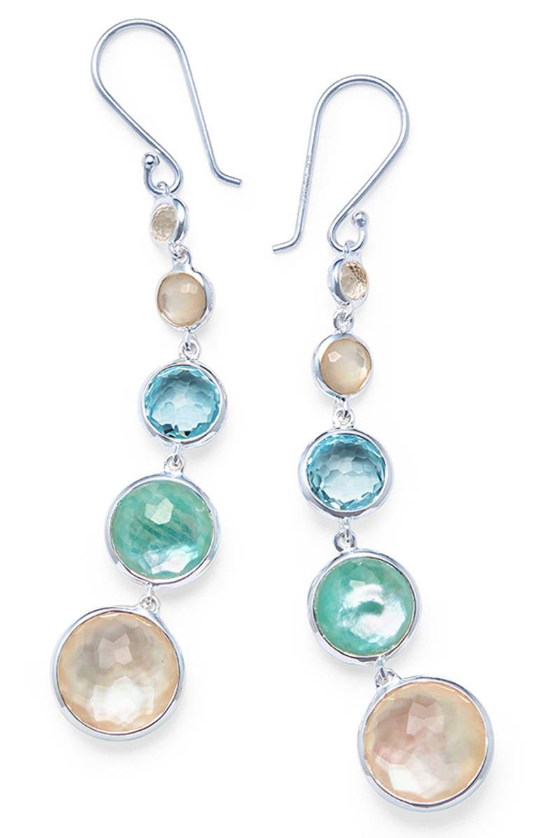 IPPOLITA Lollipop Lollitini Drop Earrings, Main, color, SILVER/ QUARTZ