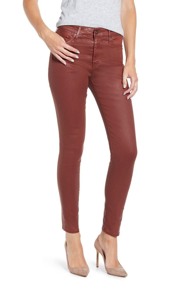 AG Farrah High Waist Ankle Skinny Jeans, Main, color, VIN LTT LT RICH CRIMSON
