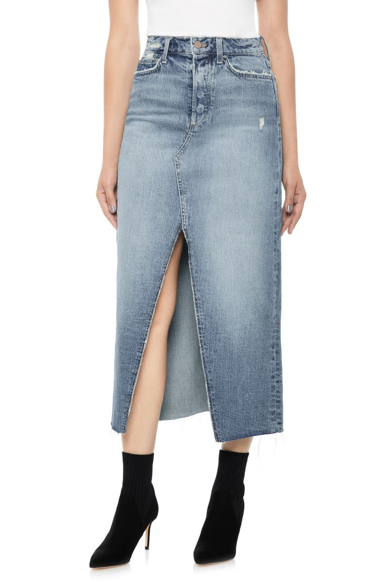 JOE'S High Waist Long Denim Skirt, Main, color, 450