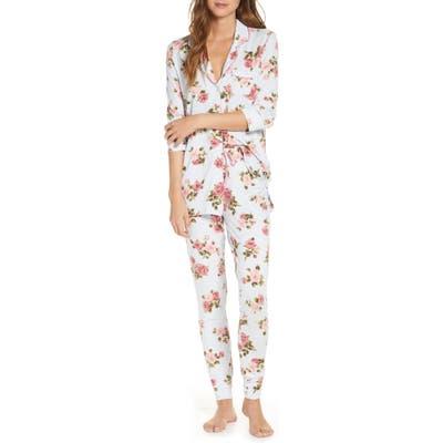 Rachel Parcell Long Sleeve Print Pajamas, Blue (Nordstrom Exclusive)