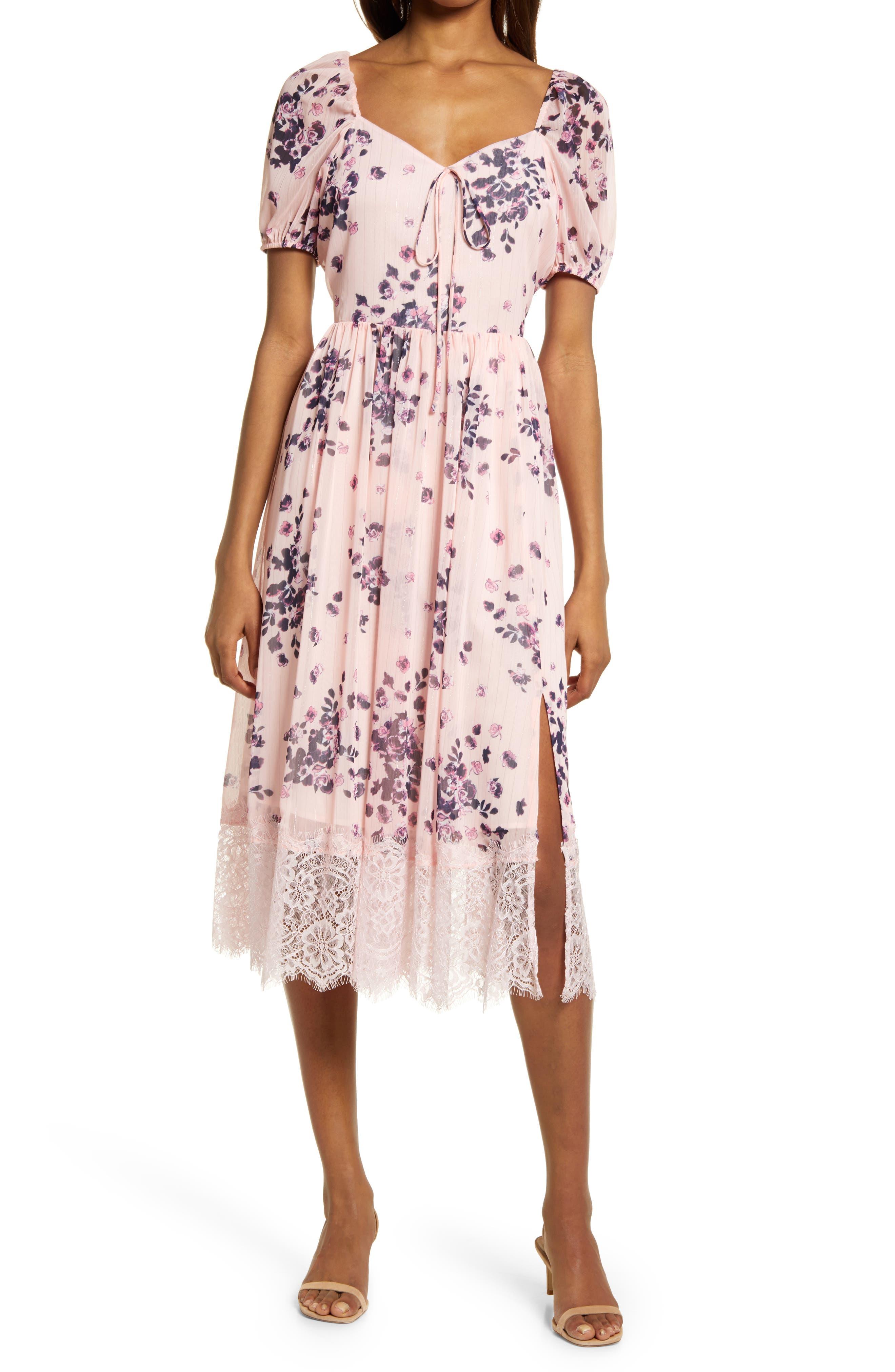 Chiffon & Lace Dress