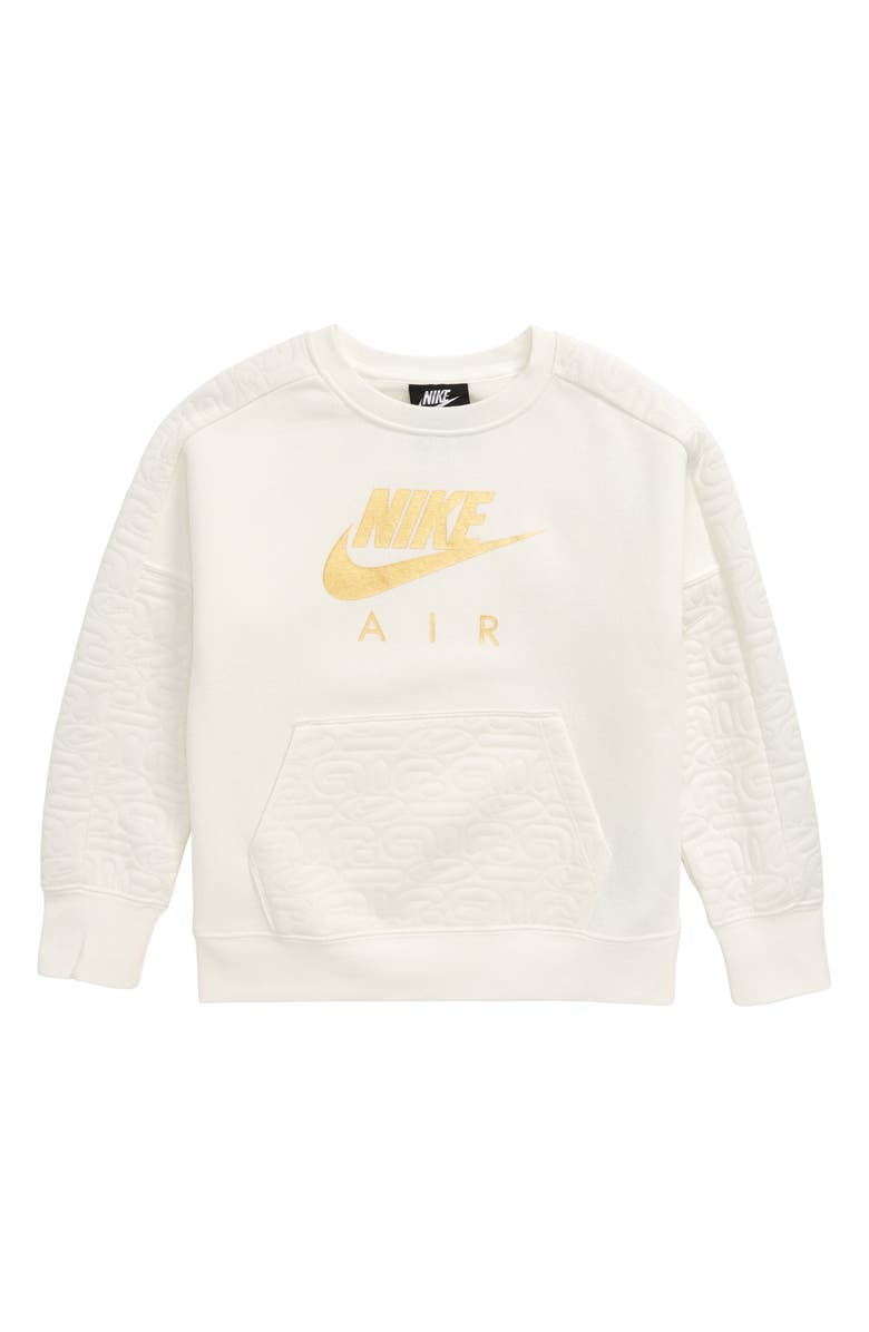 NIKE Air Fleece Sweatshirt, Main, color, 900