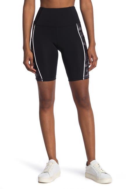 Image of Marika Camo Panel High Waisted Bike Shorts