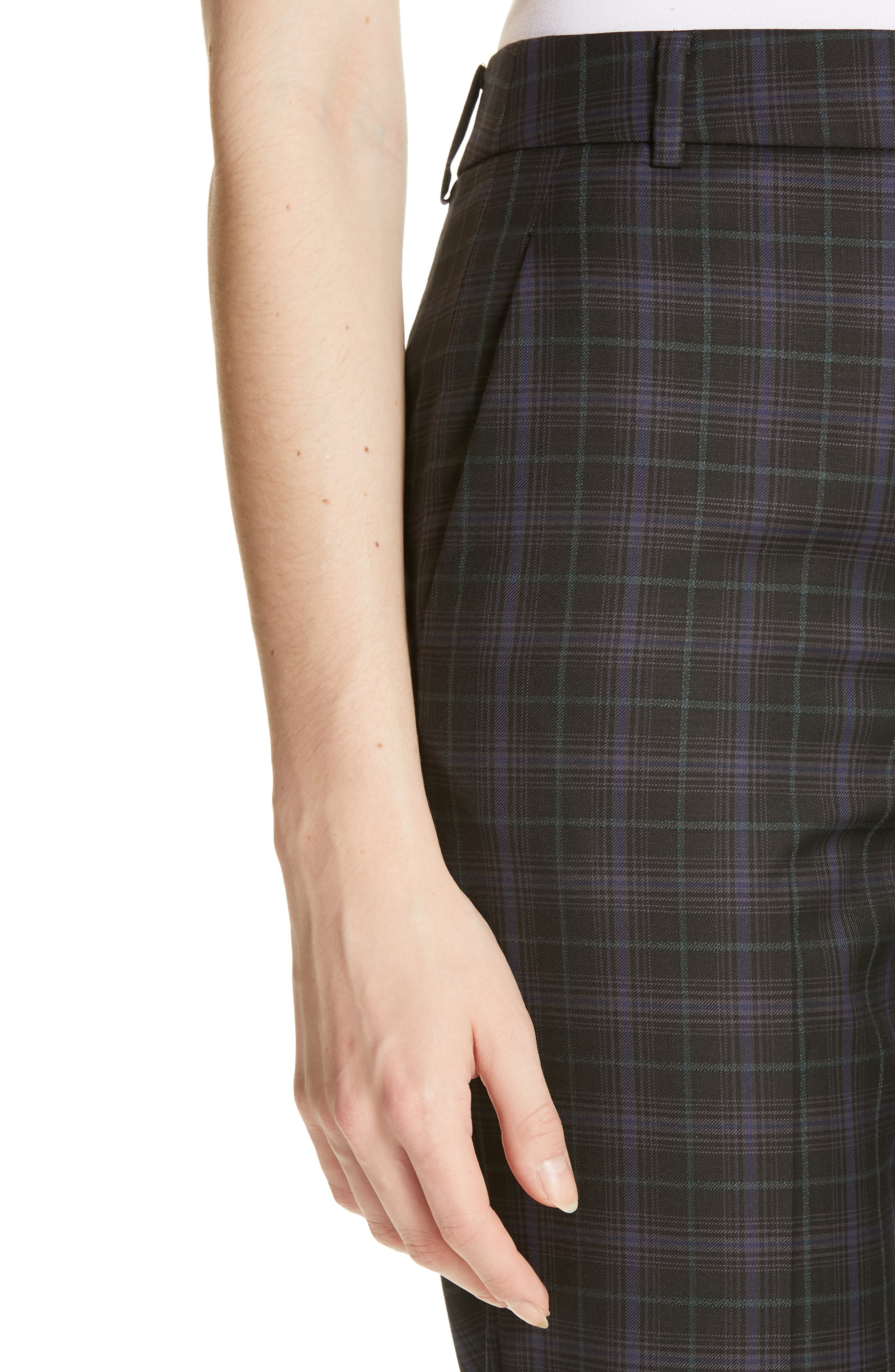 ,                             Taylor Marvel Plaid Crop Pants,                             Alternate thumbnail 5, color,                             BLACK MULTI
