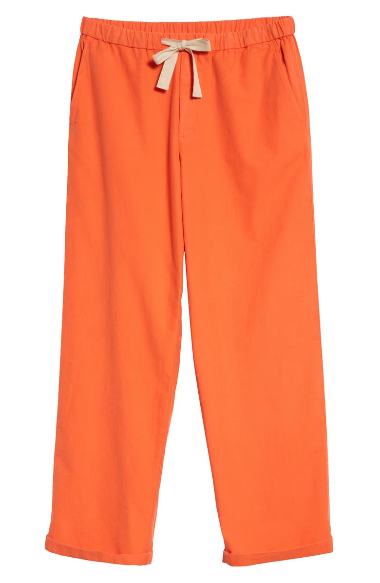 EILEEN FISHER Organic Cotton Wide Leg Pants, Main, color, SAFETY ORANGE