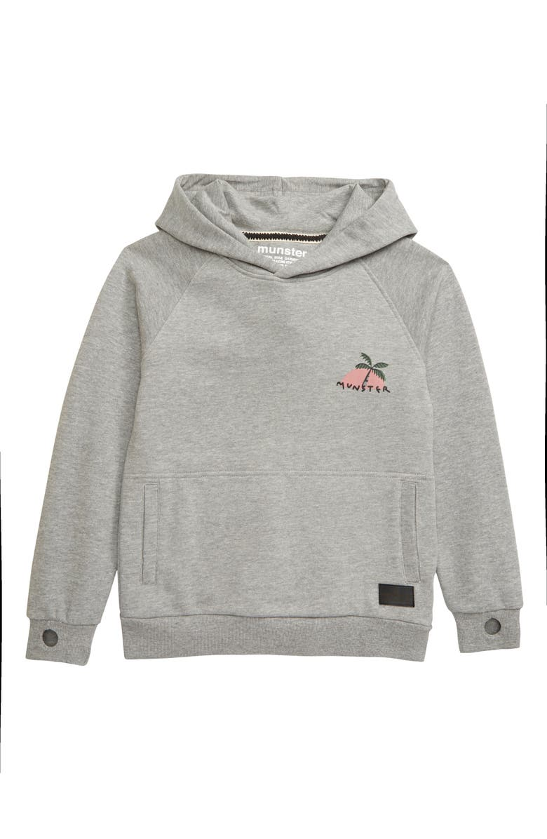MUNSTERKIDS Love Graphic Hoodie, Main, color, GREY MARLE
