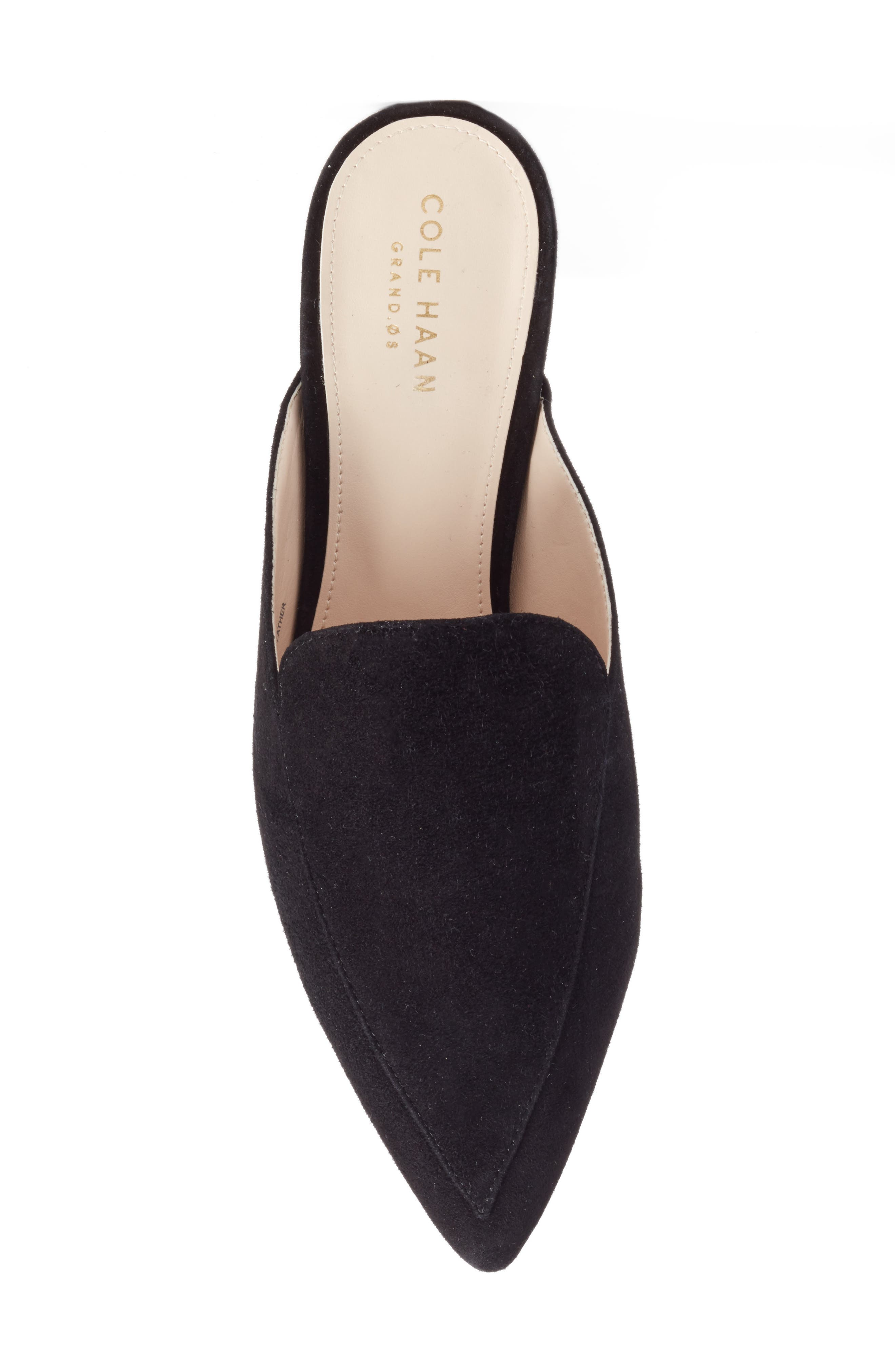 ,                             Piper Loafer Mule,                             Alternate thumbnail 5, color,                             BLACK SUEDE