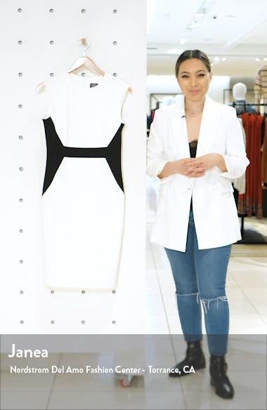 Contrast Scuba Crepe Sheath Dress, sales video thumbnail