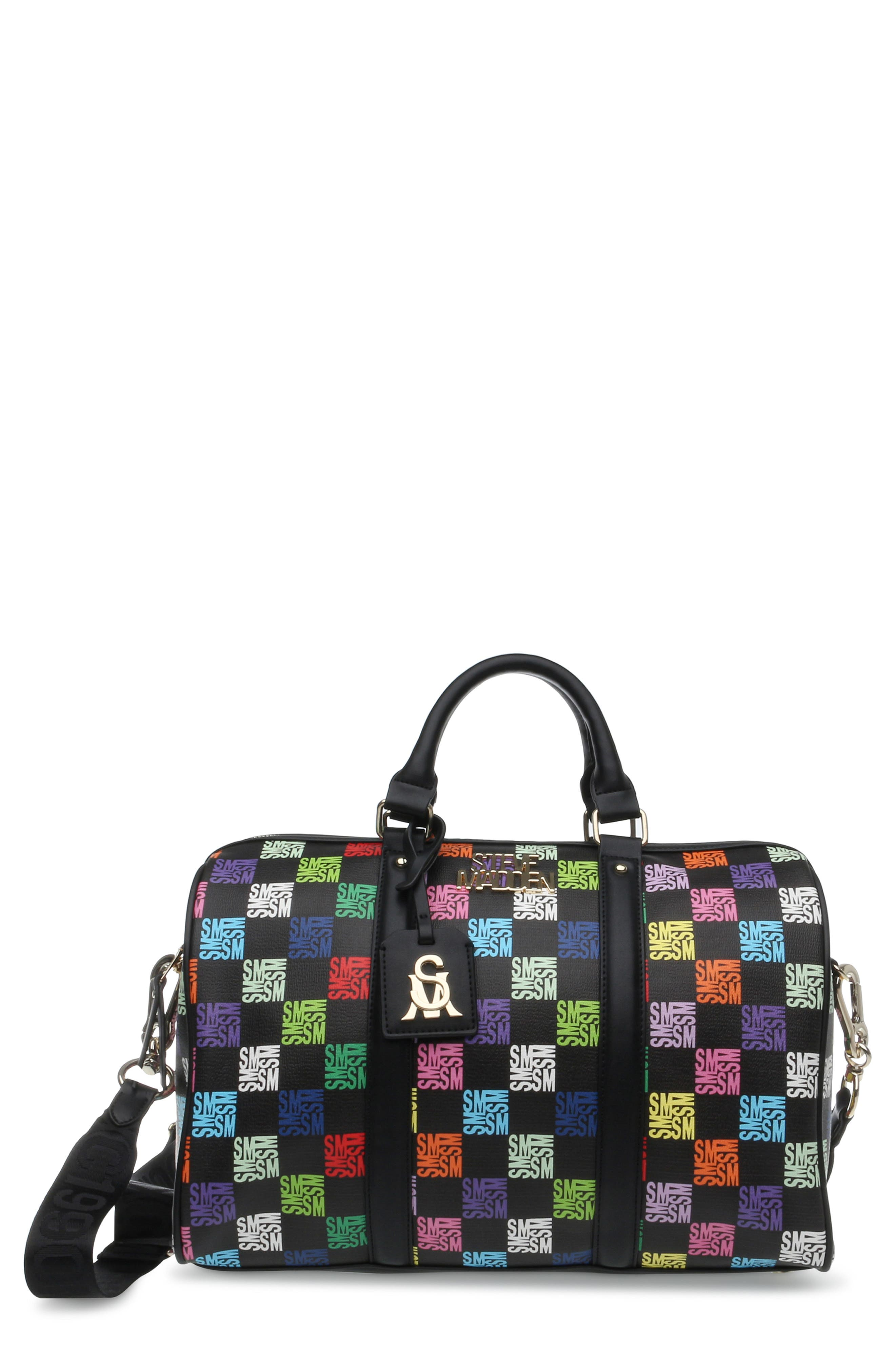 Poly-C Faux Leather Duffle Bag