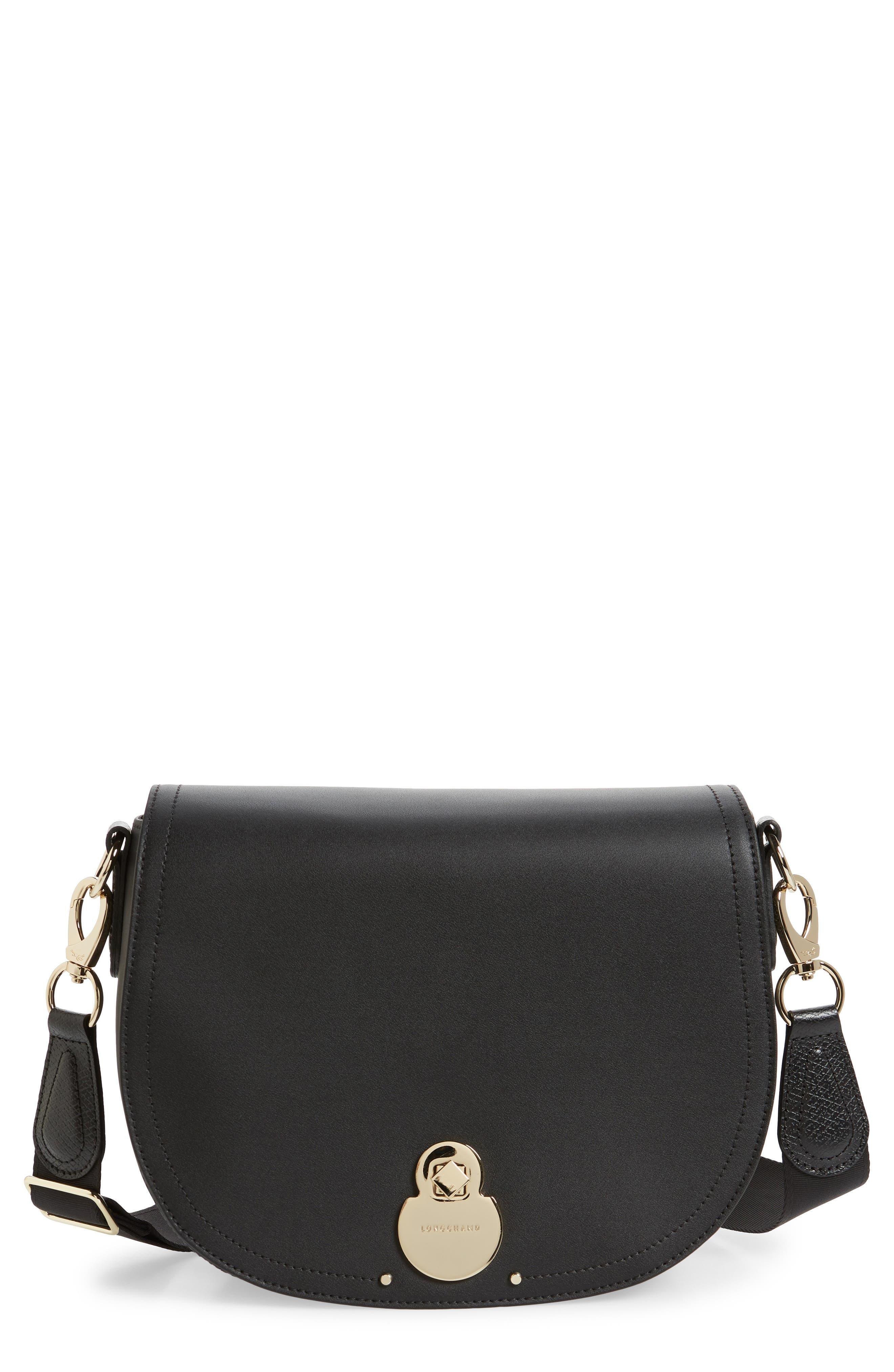 Longchamp Crossbody Medium Cavalcade Leather Crossbody Bag