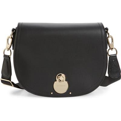 Longchamp Medium Cavalcade Leather Crossbody Bag - Black