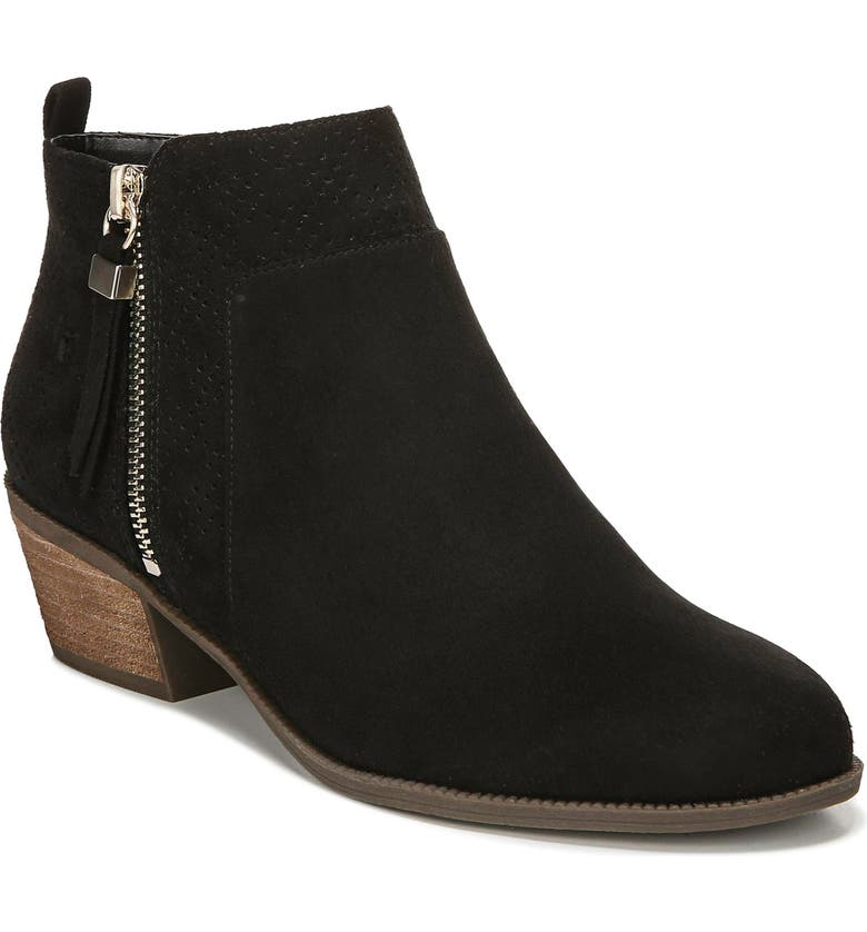 DR. SCHOLL'S Brianna Bootie, Main, color, BLACK FABRIC