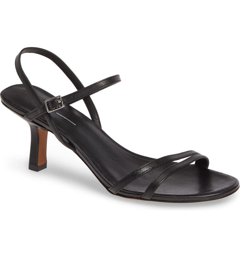 LINEA PAOLO Hope Kitten Heel Sandal, Main, color, BLACK NAPPA LEATHER