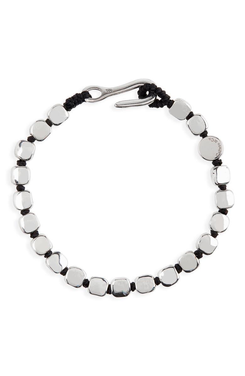 CAPUTO & CO. Sterling Silver Bead Bracelet, Main, color, BLACK