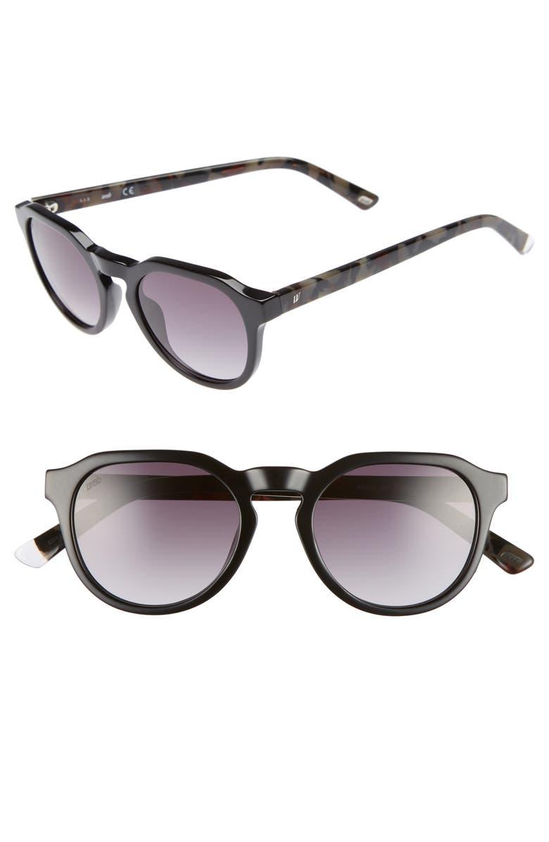 WEB 50mm Sunglasses, Main, color, BLACK/ GRADIENT SMOKE
