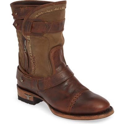 Lane Boots Dust Off Leather & Canvas Boot