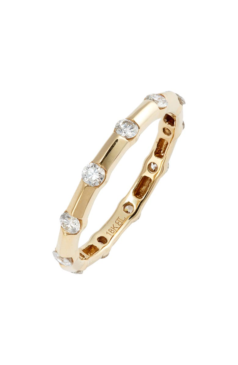 BONY LEVY Simple Obsession Eternity Ring, Main, color, YELLOW GOLD
