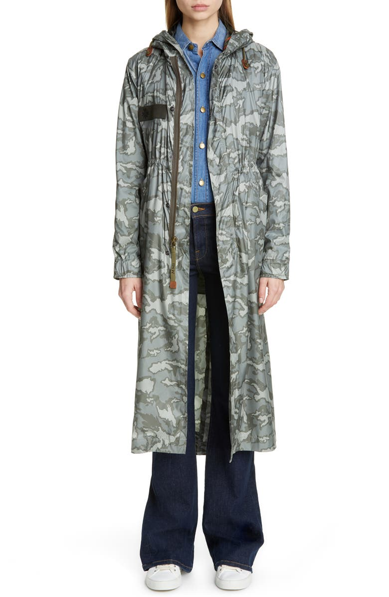 MR & MRS ITALY Camouflage Raincoat, Main, color, 300