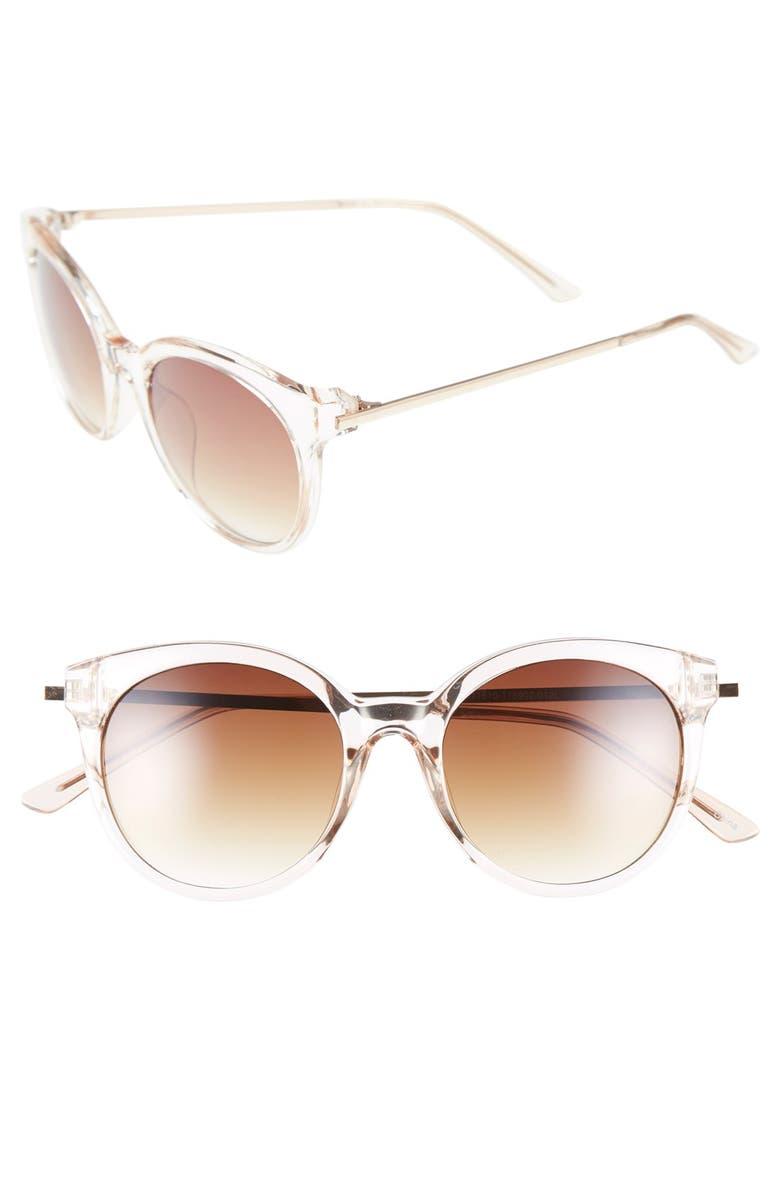 BP. 54mm Round Sunglasses, Main, color, 710