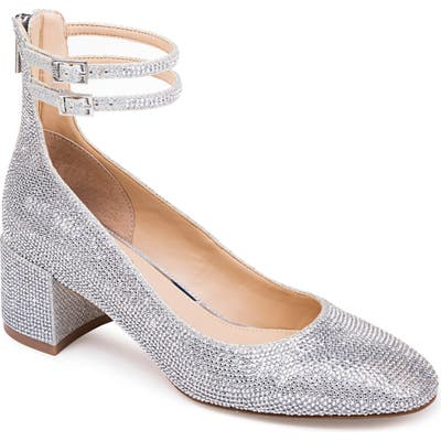 Jewel Badgley Mischka Reeves Pump, Metallic