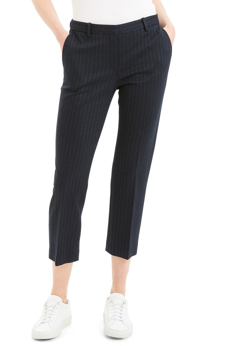 THEORY Stripe Tailored Pants, Main, color, MULTI