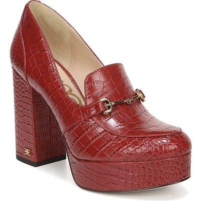 Sam Edelman Aretha Platform Loafer Pump- Red