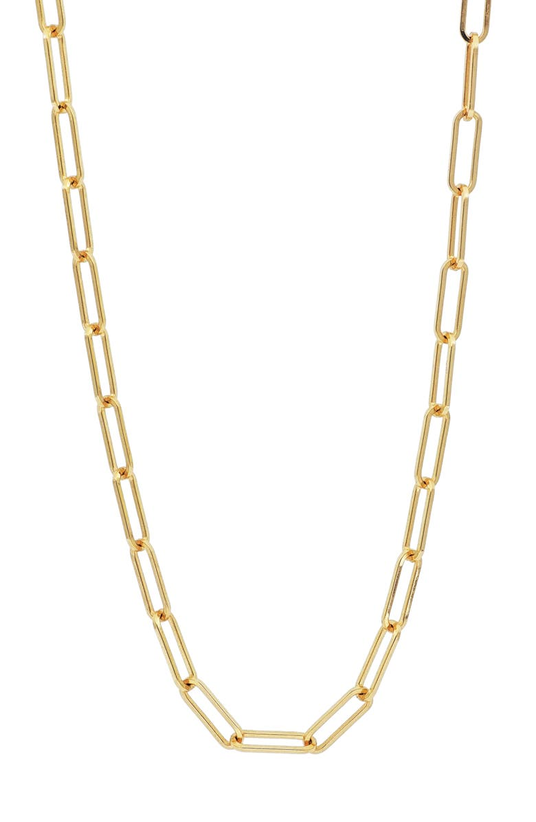 BONY LEVY Ofira Chain Link Necklace, Main, color, GOLD