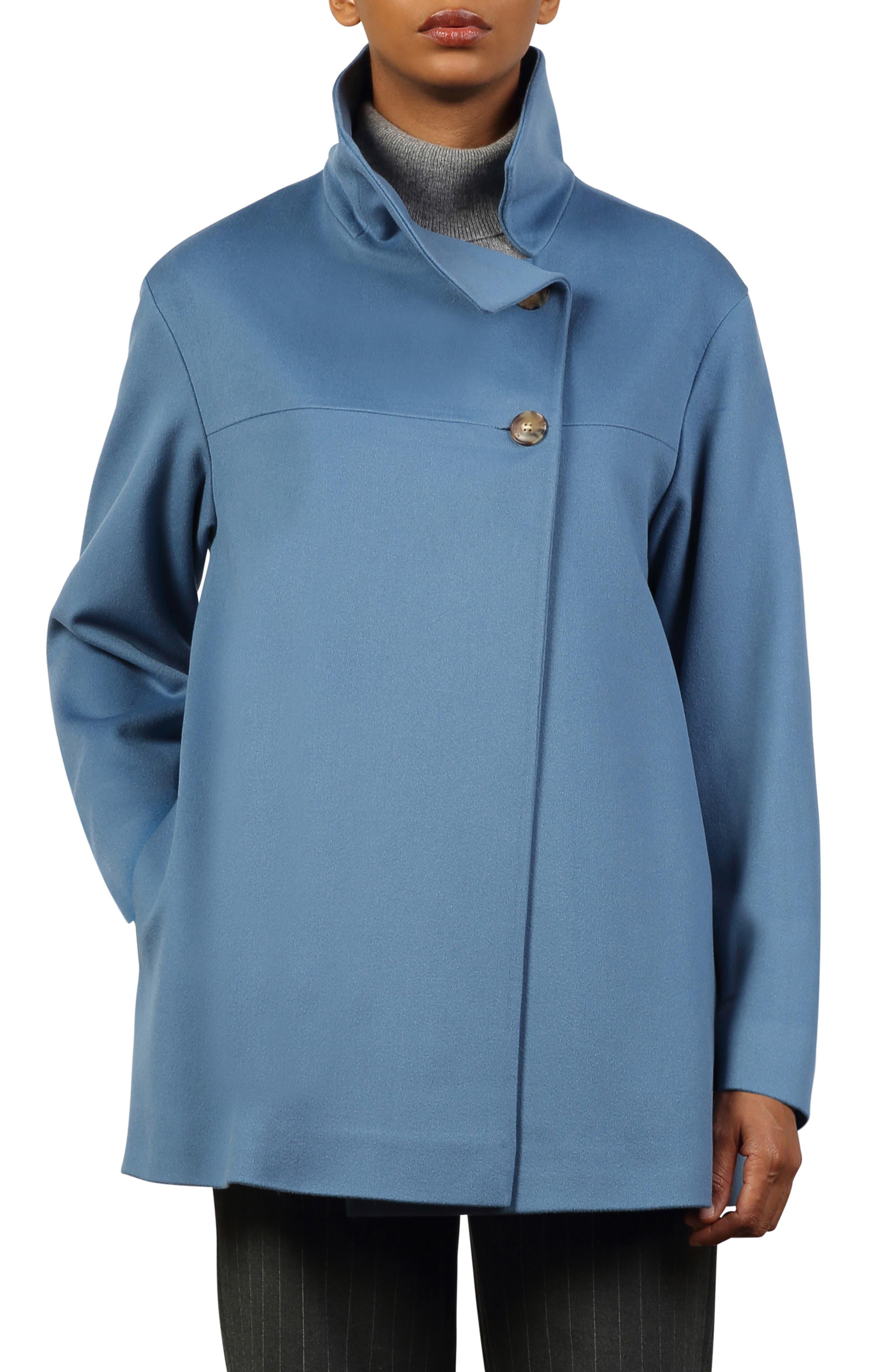 Elvis Stand Collar Wool Car Coat