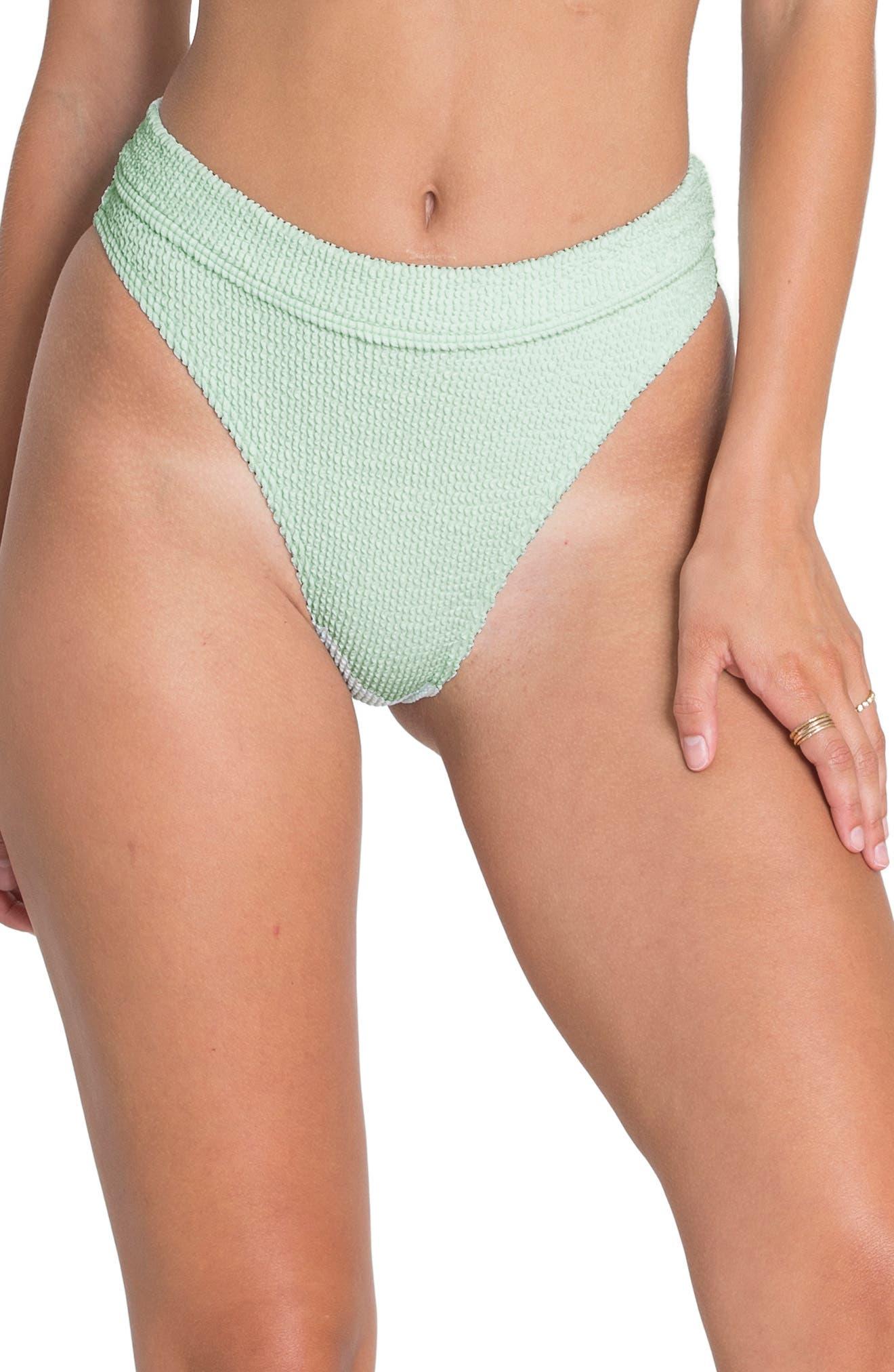 ,                             Summer High Maui Ribbed Bikini Bottoms,                             Main thumbnail 1, color,                             SEASPRAY