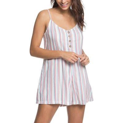Roxy Coconut Sunshine Stripe Romper, Blue