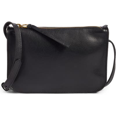 Madewell The Simple Leather Crossbody Bag - Black