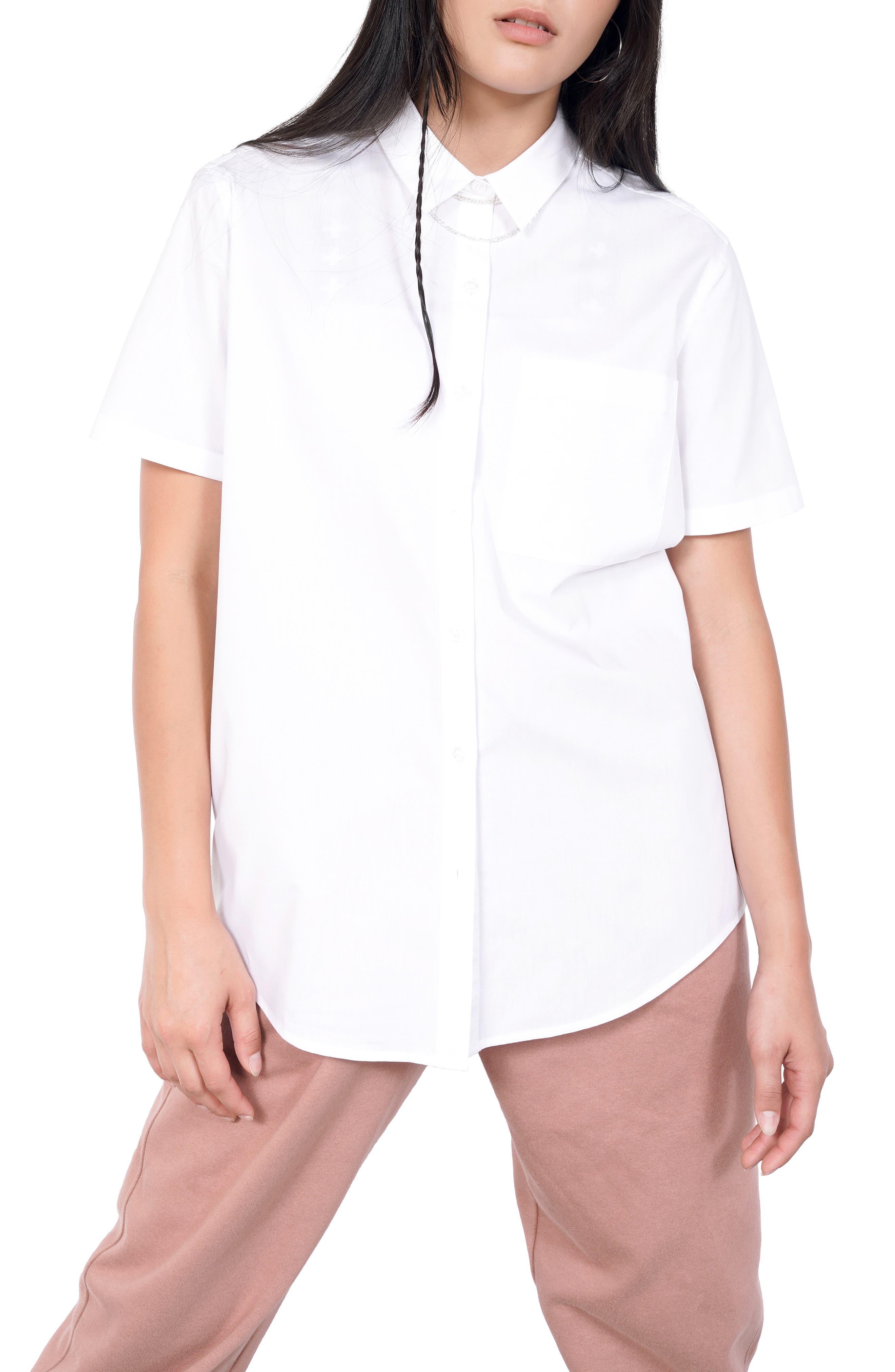Women's Bp. + Wildfang Short Sleeve Button-Up Shirt