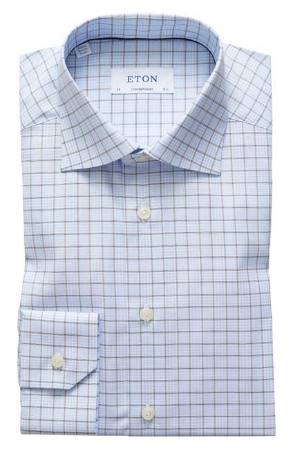 Image of Eton Plaid Contemporary Fit Dress Shirt