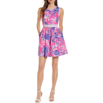 Lilly Pulitzer Alivia Eyelet Fit & Flare Dress, Pink