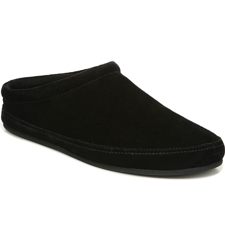 VINCE Howell Genuine Shearling Lined Slipper, Main, color, BLACK