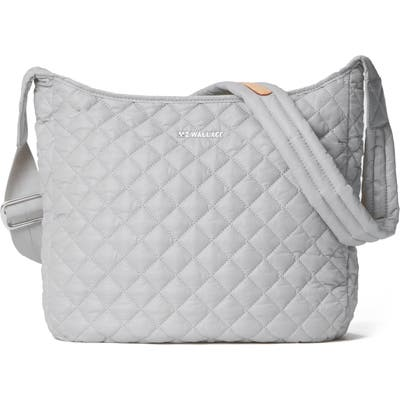 Mz Wallace Parker Quilted Nylon Crossbody Bag - Grey