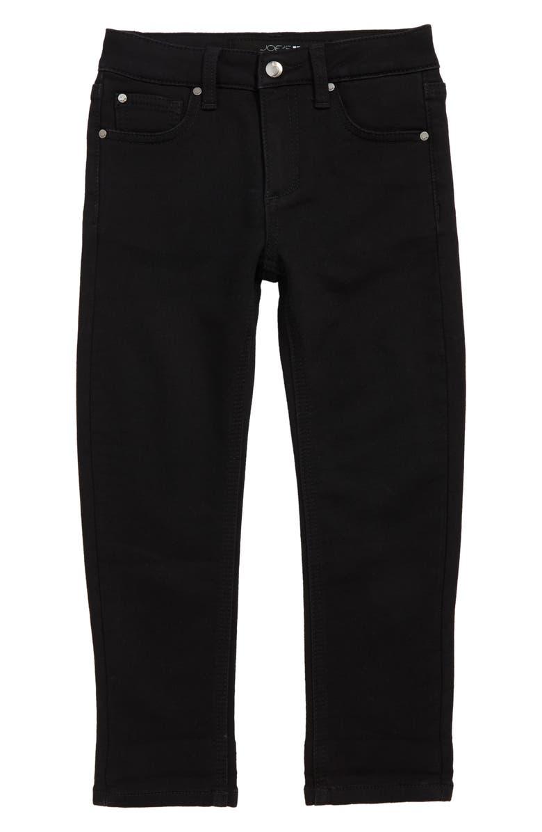 JOE'S Soder Relaxed Slim Crop Stretch Denim Jeans, Main, color, BLACK