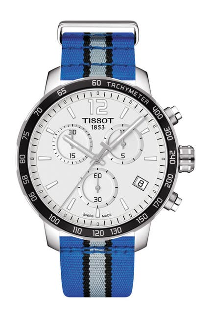 Image of Tissot Men's Quickster Chronograph NBA Orlando Magic Watch, 42mm
