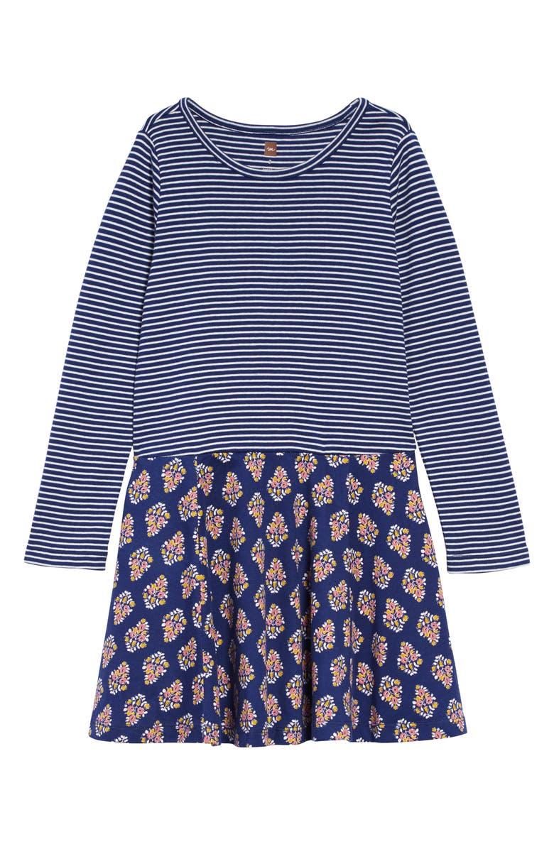 TEA COLLECTION Skirted Dress, Main, color, SCUBA